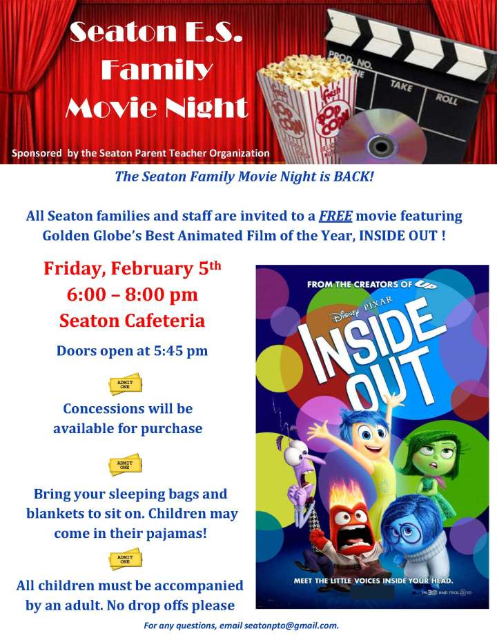Movie Night Flyer - Inside Out