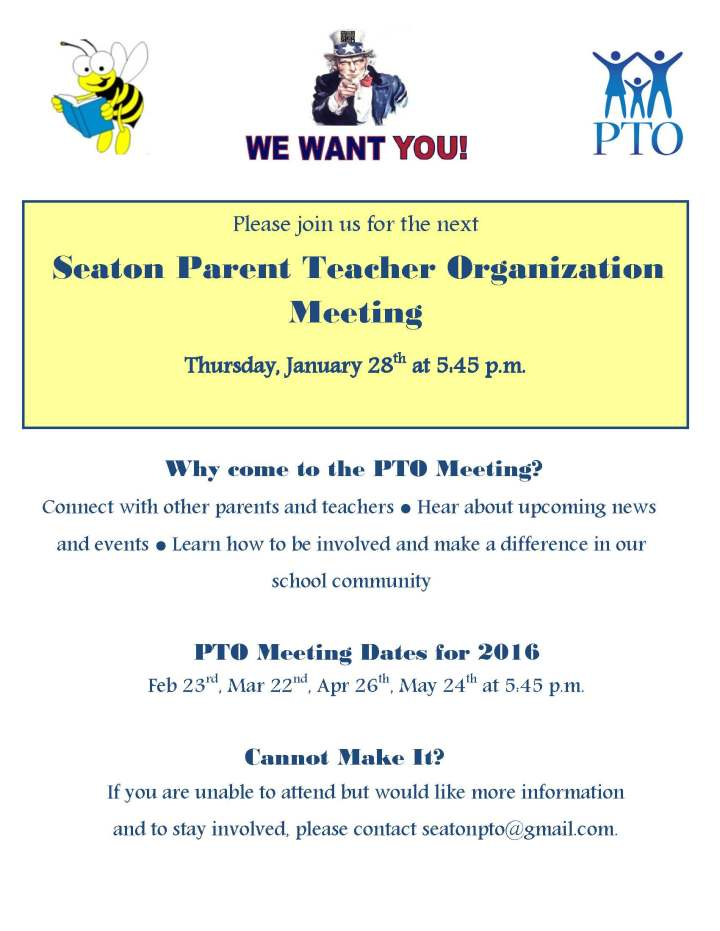 Seaton PTO Meeting 01.28.16