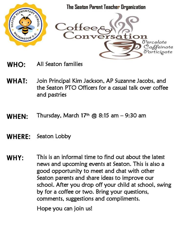 Seaton Coffee & Convo Flyer 03.17