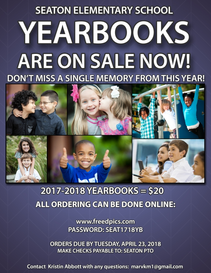 2017-18 PURPLE Yearbook ONLINE Sales Flyer
