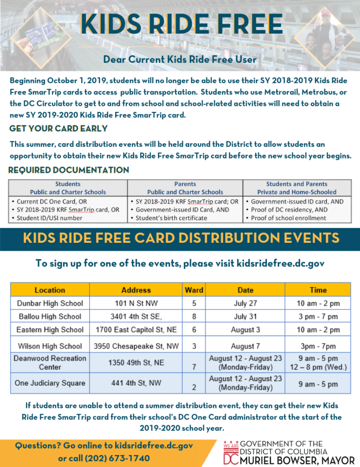 2019 KIDS RIDE FREE CARD DISTRIBUTION EVENTS (1)