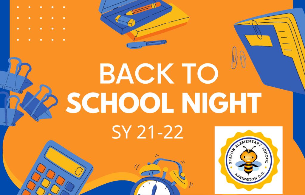 Back-to-School Night Schedule